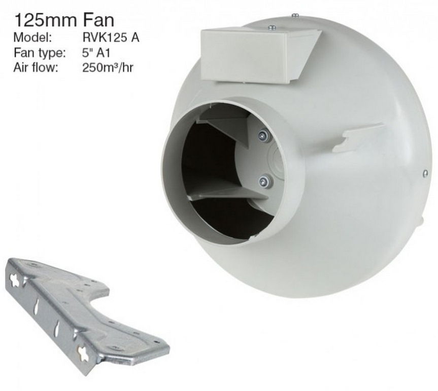 Systemair Rvk Sileo 125e2 A1 5 Quot 125mm In Line Duct Fan