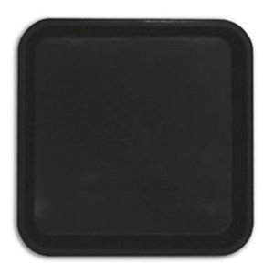 Heavy Duty Square Pot Saucers (Black) 2 Litre