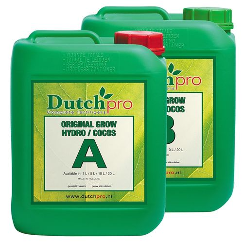 Dutch Pro  Original Grow  Hydro / Coco A&B 5 Litre